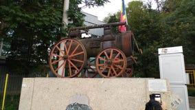Vieux train Roumanie de charbon Photos libres de droits