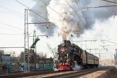 Vieux train russe Photographie stock libre de droits