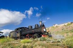 Vieux train touristique de locomotive à vapeur Images libres de droits
