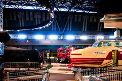 Vieux trains dans le musée ferroviaire d'Omiya, Saitama, Japon Images stock