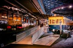 Vieux trains dans le musée ferroviaire d'Omiya, Saitama, Japon Photo libre de droits