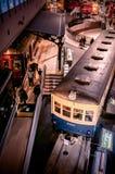 Vieux trains dans le musée ferroviaire d'Omiya, Saitama, Japon Photographie stock