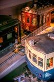 Vieux trains dans le musée ferroviaire d'Omiya, Saitama, Japon Images libres de droits