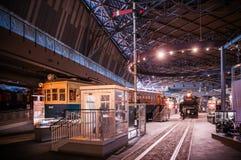 Vieux trains dans le musée ferroviaire d'Omiya, Saitama, Japon Photos libres de droits