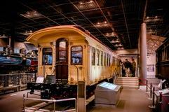 Vieux trains dans le musée ferroviaire d'Omiya, Saitama, Japon Image libre de droits