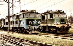 Vieux trains de polonais image libre de droits
