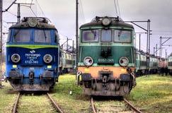 Vieux trains de polonais image stock
