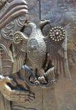 Vieux traitement de trappe en métal Images libres de droits