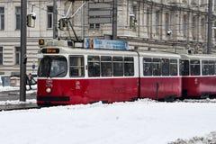 Vieux tram à Vienne Photographie stock