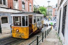 Vieux tram de Lisbonne Photo libre de droits