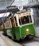 Vieux tram de Noël à Poznan Photo libre de droits
