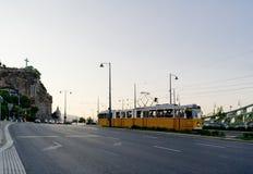 Vieux tramway à Budapest Photographie stock libre de droits