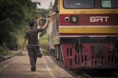 Vieux transfert des données thaïlandais par chemin de fer Photographie stock libre de droits