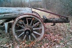 Vieux transport de chariot Photo stock