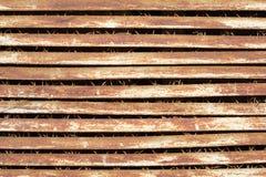 Vieux trellis rouillé en métal Photographie stock
