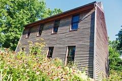 Vieux tribunal dans Postville, région de Lincoln, Montgomery County Photographie stock libre de droits