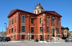 Vieux tribunal du comté de McHenry Photographie stock libre de droits