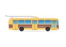 Vieux trolleybus sur le blanc Image libre de droits