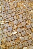 Vieux trottoir de pavé rond Images stock