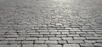 Vieux trottoir de pavé rond photographie stock