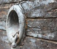 Vieux trou submergé d'ancre de bateau Images stock
