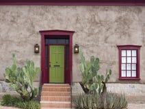 Vieux Tucson, entrée de maison Photographie stock