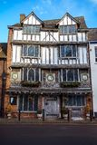 Vieux Tudor House, île d'Exe, 6 Tudor Street, Exeter, Devon, Royaume-Uni, le 28 décembre 2017 images libres de droits