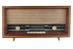 Vieux tuner par radio Image stock