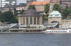Vieux tunnel d'Elbe à Hambourg, Allemagne Photographie stock libre de droits