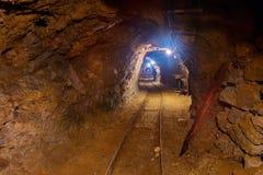 Vieux tunnel de mine Photos libres de droits