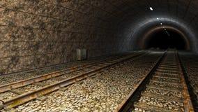 Vieux tunnel de train. Images stock