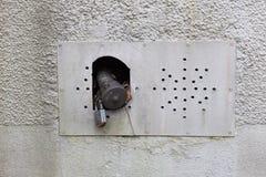 vieux tuyau de service d'huile avec la serrure dans le bâtiment historique des sud g photographie stock libre de droits