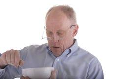 Vieux type en céréale bleue de consommation photos stock