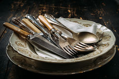 Vieux ustensiles de cuisine Photographie stock