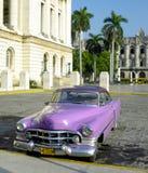 Vieux véhicule à La Havane Images libres de droits