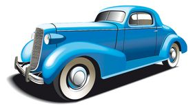 Vieux véhicule bleu illustration de vecteur
