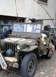 Vieux véhicule blindé de la deuxième guerre mondiale Images libres de droits