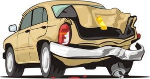 Vieux véhicule de crash Images libres de droits