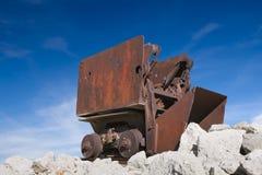 Vieux véhicule de Mucker de minerai Photo stock