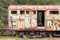 Vieux véhicule de train Image libre de droits