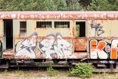 Vieux véhicule de train Photos libres de droits
