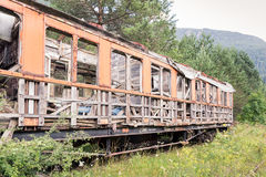 Vieux véhicule de train Photo libre de droits