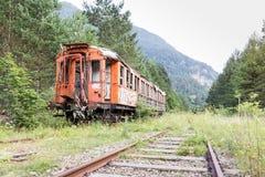 Vieux véhicule de train Photo stock