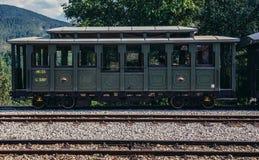 Vieux véhicule ferroviaire Photos stock
