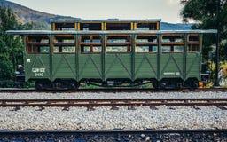 Vieux véhicule ferroviaire Photographie stock