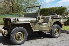 Vieux véhicule militaire d'entraînement de quatre roues Images stock