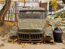 Vieux véhicule soviétique Photographie stock