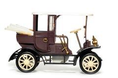 Vieux véhicule Velox Prague 1900 de jouet Photographie stock