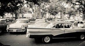 Vieux véhicules classiques à La Havane, Cuba Image libre de droits