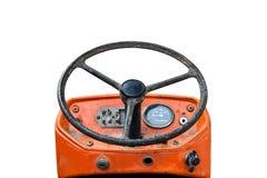 Vieux véhicules de système de direction et d'entraînement, d'isolement sur le blanc Photographie stock libre de droits